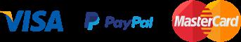 We accept VISA, Mastercard and Paypal